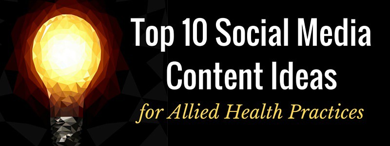 Top 10 Social Content Ideas Lightbulb