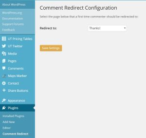 WordPress Blog Comment Redirect Plugin