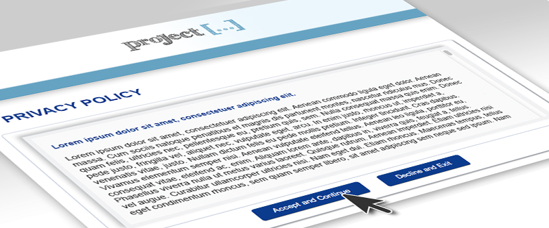Privacy policy blog header