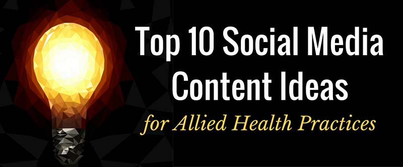 Top 10 Social Content Ideas Lightbulb